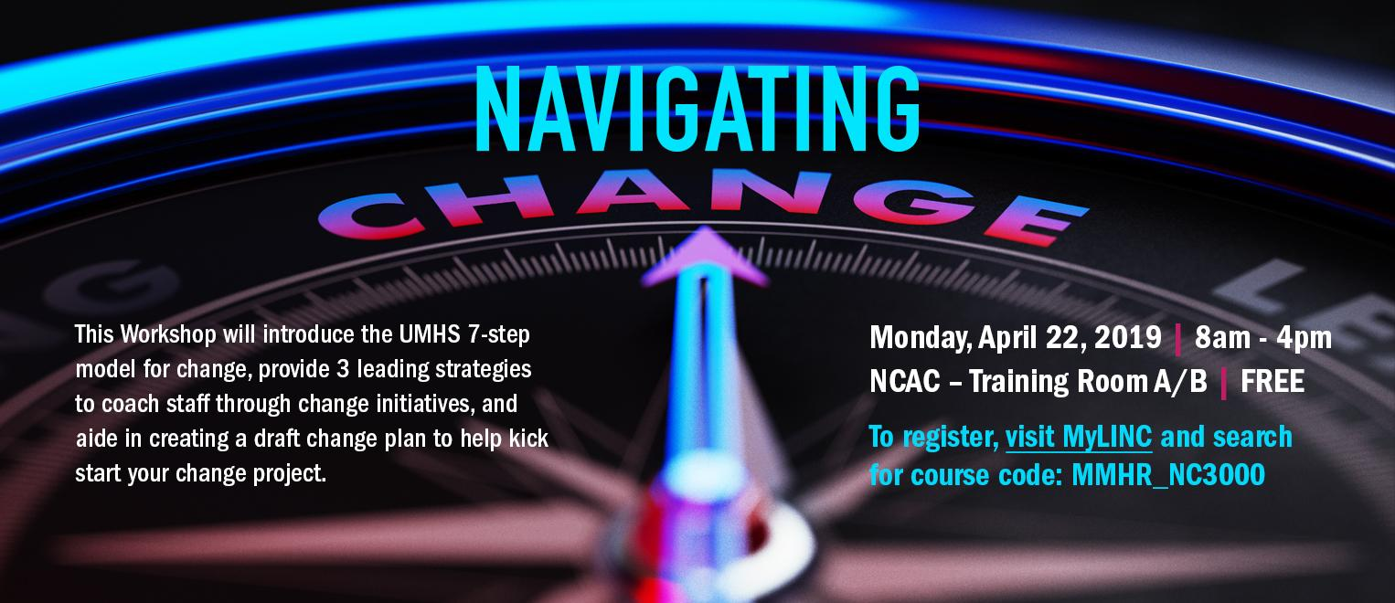 Navigating Change Course Available in April